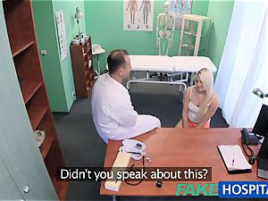 FakeHospital physician helps blonde get a raw vulva