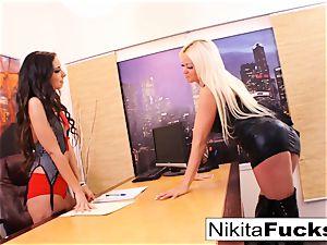 Nikita's girl/girl office ravage