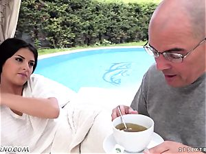 elderly dad screws his super-cute fresh nubile stepdaughter Coco De Mal