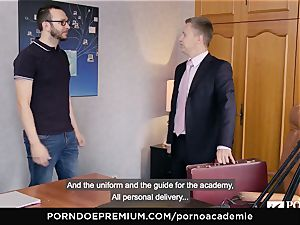 porno ACADEMIE Lana Rhoades loves porking French prick