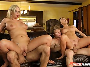Family sex lessons with stepmom and stepparent - Phoenix Marie and Alexis Adams