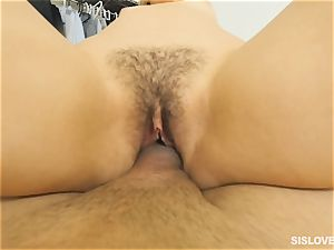 Kendall Kross rails her step brothers humungous man-meat