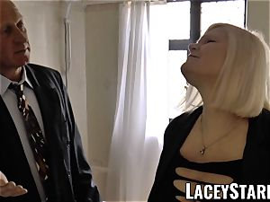 LACEYSTARR - Mature English honey torn up and facialized