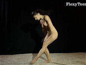 scorching booty gymnast dancing