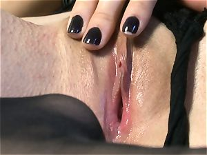 sexy babe Sasha Grey gets her rosy vulva romped rigid by her plaything till she blows a load