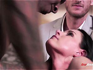 torrid wifey India Summer ejaculating on a ebony man meat