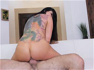Romi Rain gets a mouthhole of cum