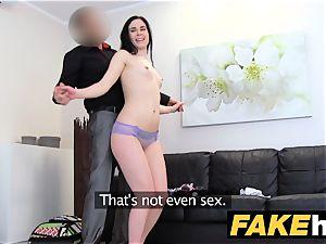 fake Agent hot bony undergarments model screwed