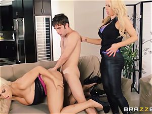 Nikki Benz and Bridgette B get filthy with the security man