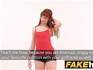 faux Agent creampie for fresh ginger-haired american model