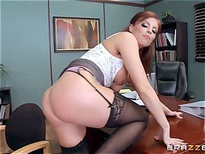 sandy-haired chief Britney Amber pokes a ultra-kinky employee