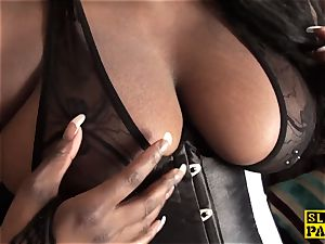 black huge-titted brit booty-fucked and predominated