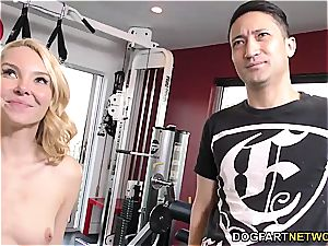Aaliyah enjoy pulverizes With Her Trainer - cuckold Sessions
