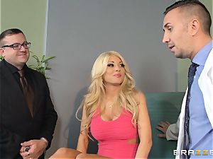 chesty wifey Kayla Kayden pokes physician for her hubby