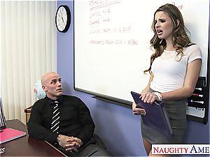 slim Jillian Janson ultra-kinky for her teacher's trouser snake
