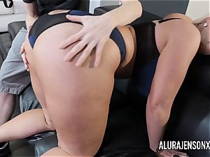 huge-titted mummy Alura Jenson has her enormous bootie worshipped