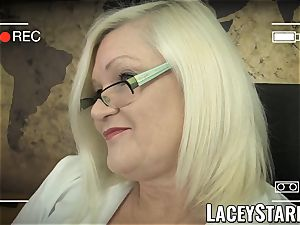 LACEYSTARR - GILF heals patient with lezzie ejaculation