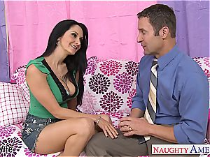 tatted black-haired wifey Ava Addams pummeling