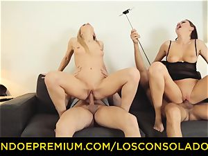 LOS CONSOLADORES - Hungarian light-haired gets fucked point of view