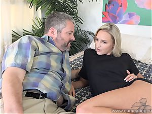 Emma Hix and hubby pummel Her youthful guy mate