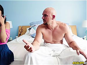 stepfather caught watching porn by her step-daughter Kiley Jay