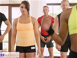 FitnessRooms sweaty bosom in a room total yoga babes