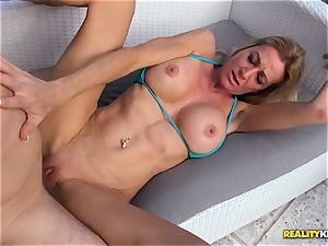 Ceira Roberts cootchie plumbed by the poolside