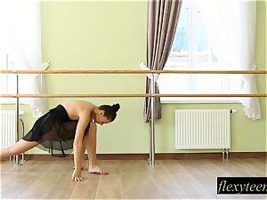 fantastic girl Regina does gymnastic acting