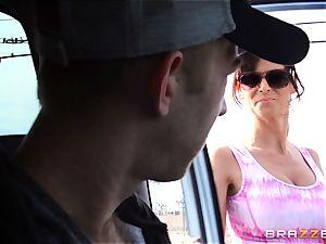 wonderful stepmom Syren Demer plows her stepsons thick jizz-shotgun