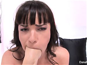 Dana gets her backside screwed by Owen's humungous trouser snake