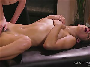 Abella Danger and Haley Reed scissor orgy makes them orgasm