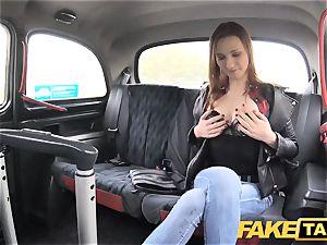 fake cab slender redhead luvs raunchy hook-up