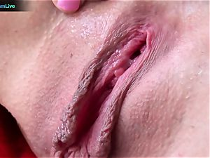 Tanya James using ample faux-cocks into her wet fuckbox