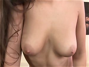 super-fucking-hot Eve Angel kinky and stuck at the offce