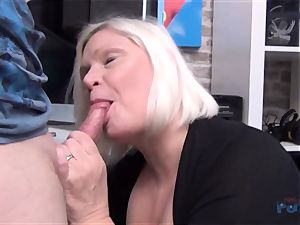 super-steamy milf Lacey Starr shaft deep throating