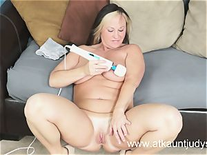 Gabriella Banks is experiencing good stimulations on her raw vulva.