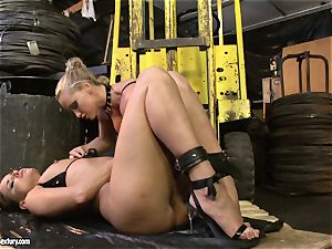 Andy chocolate-colored and Kathia Nobili arse dildoing rock hard