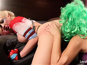 Whorley Quinn Leya gets porked hard by She Joker Nadia