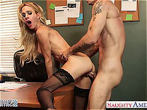 tattooed towheaded Sarah Jessie ravage in the office
