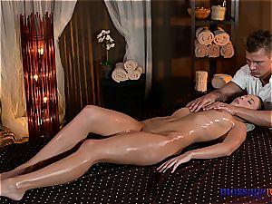 Nuru massage turns to sensual pummeling