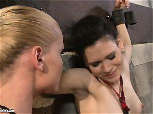 Kathia Nobili tantalizing a nasty college lady