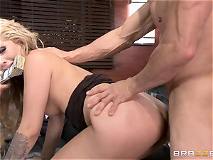 first-ever double penetration for Madelyn Monroe