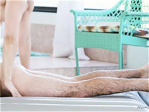 buxomy massagist In activity