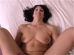 guiltless brown-haired cougar hotwife creampie wish