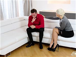 crazy INLAWS - Stepmom penetrates stepdaughter's beau