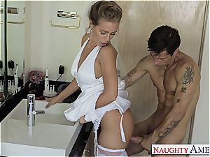 beautiful Nicole Aniston in undergarments getting ravaged hard