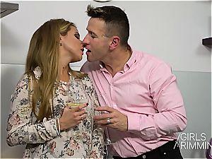 glamour wifey slurps her husbands rump for amusement