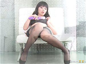 japanese sweetheart Marica Hase smashed in wondrous dark-hued underwear