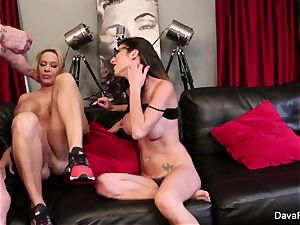 point of view inhaling and banging with Dava Foxx and Alyssa Lynn