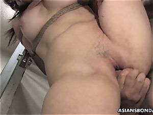 japanese hottie gets screwed with force behind the bars